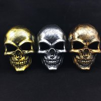 Wholesale Decoration Paint Brush - New Original Gifts Halloween Party Decoration Mask Brush Painting Antique Skeleton Halloween Face Mask Ghost Party Props Free Size