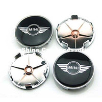 Wholesale Tattoo For Car - 4pcs 68mm Car Styling Accessories Emblem Badge Sticker Wheel Hub Caps Centre Cover for MINI Cooper Tattoo Clubman Contryman