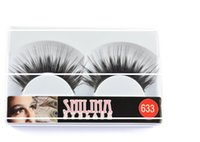 Wholesale Shilina Eyelashes - Wholesale-SHILINA 633 False Eyelashes 10 Pairs Handmade Natural Long Black Winged Fake Eye Lashes Extension Professional Makeup free shippin