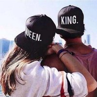 Wholesale Sport Queens - Hot Sale KING QUEEN Embroidery Snapback Hat Acrylic Men Women Couple Baseball Cap Gifts Fashion Hip-hop Sport Caps