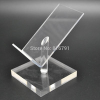 Wholesale Wholesale Dummy Cell Phones - 10pcs Acrylic Display Holder Cell Phone Stand Mobile Dummy Desk Support for iphone  Samsung  Huawei Retail Store Exhibition