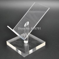 10pcs Acrylic Display Holder Mobile Phone Stand Portable Dummy Desk Support pour iphone / Samsung / Huawei Retail Store Exhibition