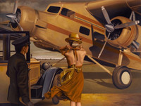 Wholesale Canvas Painting Aircraft - Couple Aircraft HD Art Print Original Oil Painting on Canvas high quality Home Wall Decor,Multi size,Free Shipping,Framed