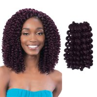 Wholesale Spiral Curls Hair Extensions - SPIRAL WAND CURL 3 PCS SET Curly Twist Short 8 inches Crochet Braid Synthetic Fiber Braiding Hair Extension