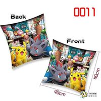 Wholesale Making Stuff - 40*40cm Pikachu figures printng cushion Soft Stuffed Animal doll pillow Cute Cartoon Pocket monster square Cushion Home & Garden Pillow