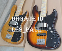 Wholesale Custom Jazz Bass - Custom Shop Nature  Sunburst Marcus Miller 4 String Jazz Bass Electric Guitar Two 9V Batter Back Boxes Active Pickups