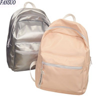 Wholesale- Bright PU Hologram Sac à dos argenté Sac scolaire Sac à dos holographique féminin Backpacking Fashion Ladies Casual Daypacks