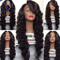 Wholesale Wavy Silk Top Lace Wig - Glueless Silk Top Full Lace Wig Wavy Silk Base Wig 4x4 Silk Top Full Lace Wigs With Natural Hairline And Baby Hair