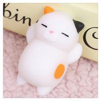Wholesale Japan Squishy Wholesale Toys - 2017 New Kawaii Squishies Original Japan Lazy Cat Mochi Decompress Squishy Squeeze Cat Healing Toy Mini Gifts Free Shipping