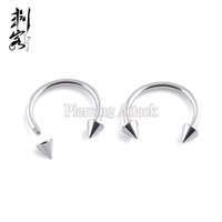 16 колец из нержавеющей стали Spike Horseshoe Circular Barbell Basic Body Jewelry Lip Rings Бесплатная доставка 100 шт за лот