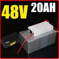 bateria de bateria de lítio de 48v venda por atacado-Bateria de lítio de 48V 20AH, com o BMS de 1000W Chargrer, bateria elétrica do