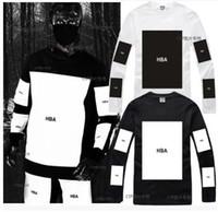 Wholesale l x l clothing online - HBA mens t shirts fashion men clothing Hood by air hba x been trill kanye west long sleeve hip hop men t shirt