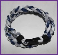 Wholesale Titanium Necklaces For Sports Wholesale - 2016 hot sale braided titanium sports necklace for man and women