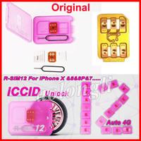 Wholesale Ios R Sim - Original R-SIM 12 RSIM12 unlock card for iPhone X ios11 rsim 12 rsim12 unlocking iphone8 8p 7 7P 6 6S IOS 11-10.x 4G CDMA SB AU SPRINT