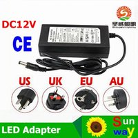 Wholesale 12v Dc Power Plug - SMD5050 LED Strip Power Supply AC 100-240V DC 12V 6A 72W Adapter with EU US AU UK plug Great power works better