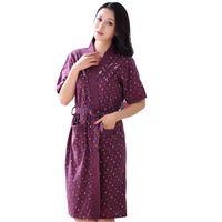 Wholesale Hot Ladies Pajamas - Wholesale- Hot Sale Summer Lady Pajamas Bath Robe Sleepwear Womens Robes Knitted Cotton Bathrobes Women Summer Homewear