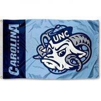 Wholesale Football Mascots - North team Carolina Tar Heelslogo Mascot Flag National Cubs Polyester Flag USA Football Hockey Baseball College Car Flags
