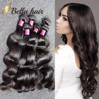 Wholesale Malaysian 3pc - Brazilian Hair Bundles 7A Factory Wholesale Human Hair Weave Body Wave HairWeft Peruvian Malaysian Indian Hair 3pc lot Free Shipping Bella