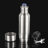 Wholesale Cold Bottles - 10X 12oz Stainless Steel Armour Bottle Koozie Keeper Keeps Beer Ice Cold Superior Insulation Sealable Screw On Cap Bottle Opener #4149