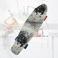 Wholesale Banana Boards - Wholesale-Peny board skate 22 inch four banana skateboard wheel skateboard for men and women fish skate board mini cruiser long Skateboard