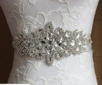 Wholesale Boys Size Dress - Cheap Hand Make 12 Colors Bridal Sashes Belts 2016 Free Size Crystal Shinny Elegant Women Belts Ivory White For Wedding Evening Dresses