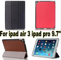 Wholesale Ipad Book Stand Case - For ipad air 3 2 ipad pro 9.7 Business 3 folded Flip book Leather stand holder case ipad 7 smart cover