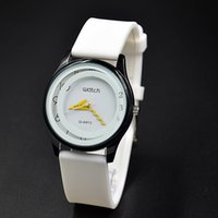 Wholesale Women S Quartz Wrist Watch - Good quality Brand Men's Woman unisex waterproof soft Silicone strap Quartz S design Wrist watch