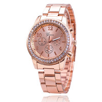 relojes grandes de ginebra al por mayor-El último reloj de aleación de cerámica de imitación de diamante de doble hilera de Ginebra marca grande de Ginebra que imprime reloj femenino de comercio exterior