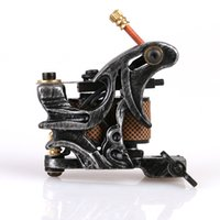 Wholesale Hot Tattoo Casting - Hot Sale High Quality Tattoo Machine for shade black Cast Iron Tattoo Motor Gun with high quality