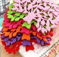bäume zum verkauf großhandel-Heißer Verkauf Tasse Matte Tischset Tischset 200 Stücke Nette Süßigkeiten farbige Filz Untersetzer Baum Form Tasse Pad