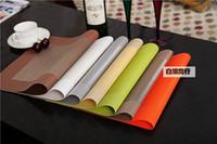 Wholesale Mats Eating - High-grade PVC waterproof eat mat single box jacquard eat waterproof place table hotel eat mat cup mat on a commission basis