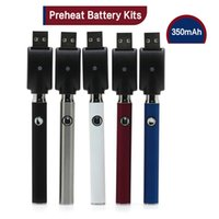 Wholesale Variable Voltage Vapor Kit - Preheat Battery Kits With Preheating Button Adjustable Variable Voltage 350mAh O Pen Bud Vapor 510 thread for atomizer CE3 G2 Glass tank