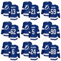 Wholesale Bay 13 - Tampa Bay Lightning 2018 Men 21 Brayden Point Jersey 59 Jake Dotchin 5 Dan Girardi 62 Andrej Sustr Hockey Jerseys Ice 13 Cedric Paquette