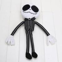 kabus daha önce noel jack peluş toptan satış-35 CM Kabus Önce Noel Bay JACK Doll Jack Peluş Oyuncak Boys Oyuncaklar boneca Çocuklar Hediyeler Çocuklar Için Yumuşak Oyuncaklar