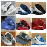 Scarpe da pallacanestro Retro XII 12 Uomini Donne 12s Gioco di influenza Blu francese 12s Il maestro Gym Red Taxi Playoff Shoes Sport With Box