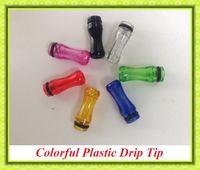 Wholesale Smok Vivi Nova - Colorful Plastic Drip Tip Mouthpiece Colorful for EE2  Vivi Nova  DCT T4 510 Electronic Cigarette Clearomizer VS Smok tfv4 Uwell rafale
