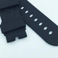 alça de borracha pam venda por atacado-24mm 115mm / 75mm moda Preto Silicone Borracha à prova de água PAM Band Strap para PAM LUNMINOR RADIOMIR Watch