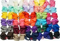 Wholesale Wholesale Large Hairbows - 6 inch baby hairbows with clips 30colors Set of 50 pcs Extra Large Hair Bow Hair Bow Hair Bow infant hair bows