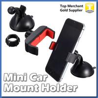 ingrosso mini portafiltro-Supporto da auto universale per supporto per telefono cellulare con supporto per parabrezza per supporto per telefono veicolare con ventosa universale