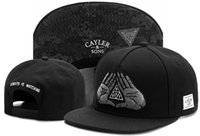 Wholesale Watch Cap Black - STREETS IS WATCHING BLACK Cayler & Sons Hip Hop fashion Snapbacks adjustable Hats Men Caps Women Ball Caps Top quality Snapback caps TYMY