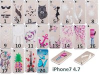 Wholesale birds skin - Transparent Dreamcatcher Soft TPU Case For Iphone 8 7 Plus Iphone7 Samsung Galaxy J310 J3 2016 Butterfly Bird Tower Cherry Clear Skin Cover