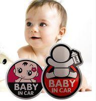 Wholesale Baby Board Sticker Car - Free Shipping Baby in car stickerBaby On Board Car Sticker With Words BABY IN CAR Sticker Metal Car Warning Decoration Sticker