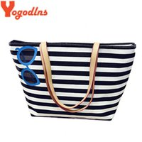 Wholesale Striped Tote Bags - Glasses Print Women Bag Shoulder Shopping Bag Canvas Tote Vintage Striped Comfortable Strap Sac Designer Handbags Bolsa Feminina
