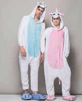 Wholesale Sleep Set For Women - Cartoon Sleep clothes pajama sets Adults women Unicorn flannel Onesies caroset sleepwear Loungewear animal pajamas for adult HML-003