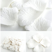 Wholesale Table Decoration Confetti - 10000Pcs White Wedding Party Decoration Table Confetti Fabric Silk Flower Rose Petals