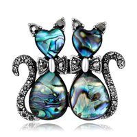 Wholesale Lizard Jewelry Wholesale - 10 Style Fashion Shell Rhinestones Brooches for Women Cat Tortoise Lobster House Lizard Butterfly Brooch Pins Animal Jewelry Christmas gift
