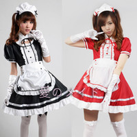 Wholesale Cheap Maid Costumes - Wholesale-New Arrival Women Halloween Costume Plus Size Maid Lolita Dress Costumes Japanese Carnival Anime Cosplay Costume Cheap