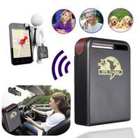automotive gps tracker großhandel-Auto GPS-Tracker GPS GSM TK102-2 Persönlicher GPS-Tracker mit Schocksensor-Alarmfunktion + Flash-Speicherkartensteckplatz