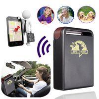 gps gsm para alarme de carro venda por atacado-GPS do carro Rastreador GPS GSM TK102-2 Pessoal GPS Tracker Com Sensor de Choque Função de Alarme + Slot Para Cartão De Memória Flash