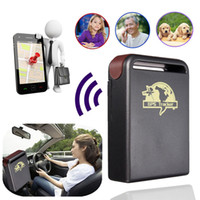 ingrosso gps gsm per allarme auto-GPS Tracker GPS GSM TK102-2 GPS Tracker auto con funzione di allarme Shock Sensor + Slot per scheda di memoria Flash